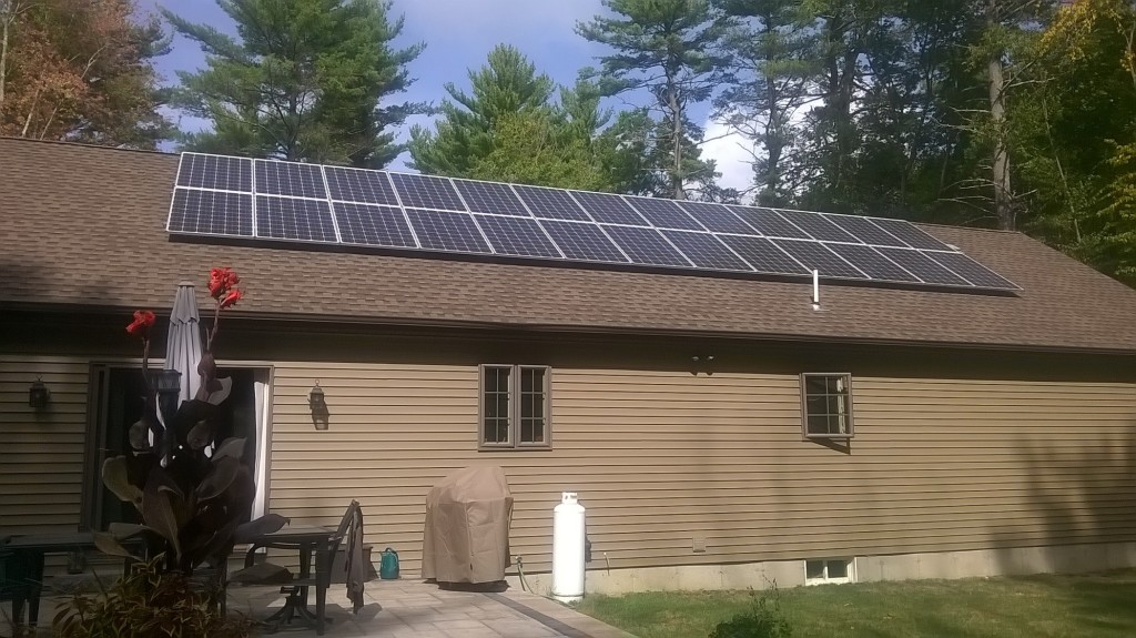 Residential Photovoltaics in Sterling, Connecticut.